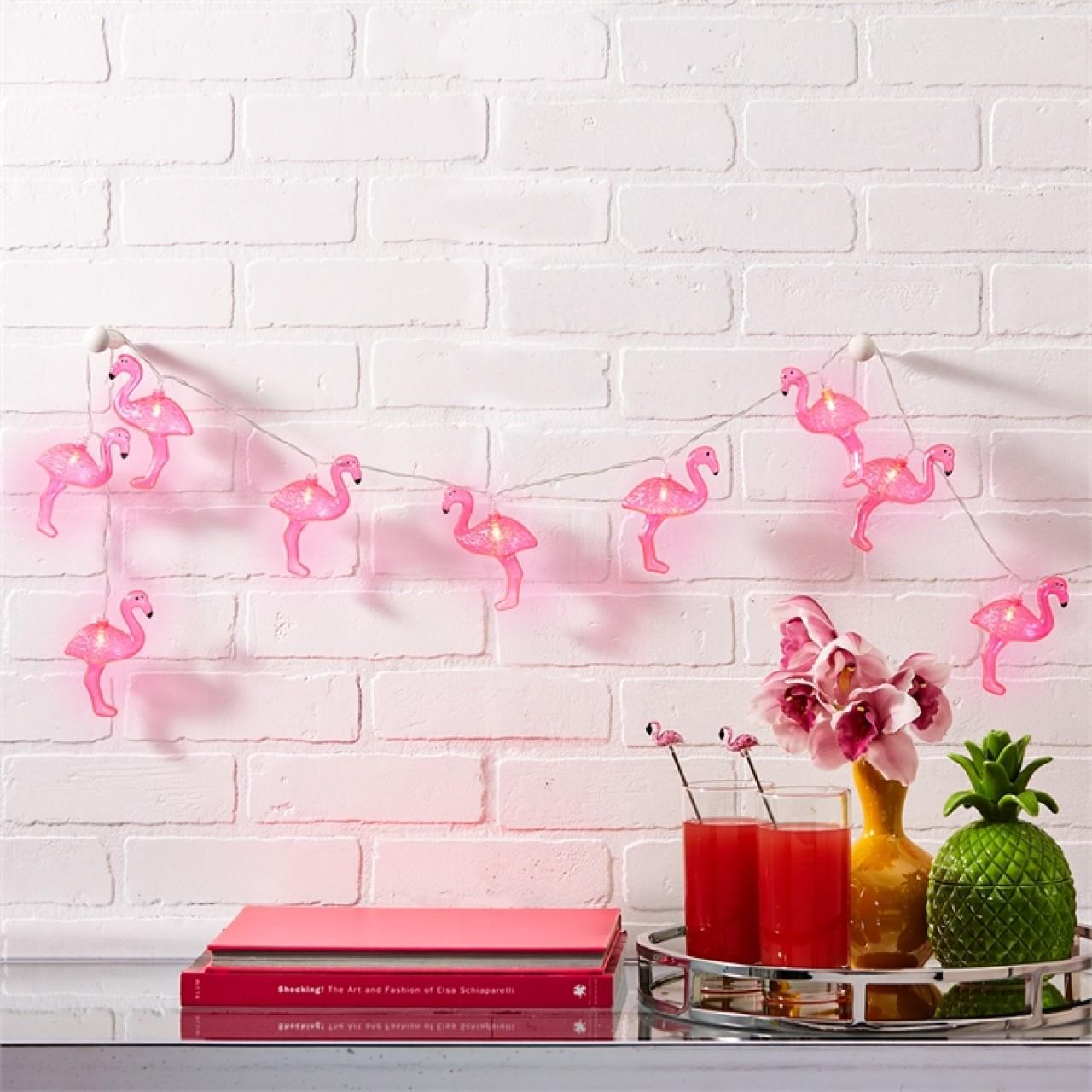 Гирлянда в виде фламинго