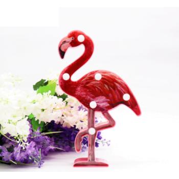 Светильник Фламинго малиновый