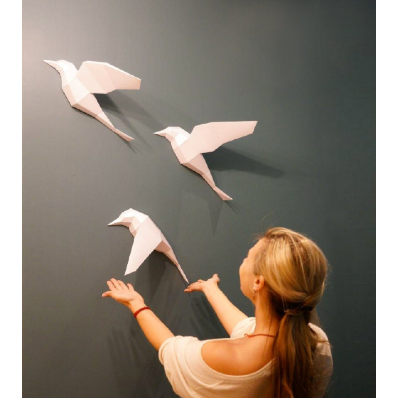 """3Д фигура из бумаги """"Птицы"""""""