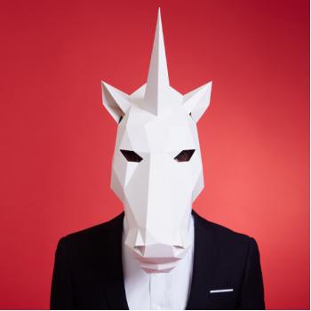 """3Д маска из бумаги """"Единорог"""""""