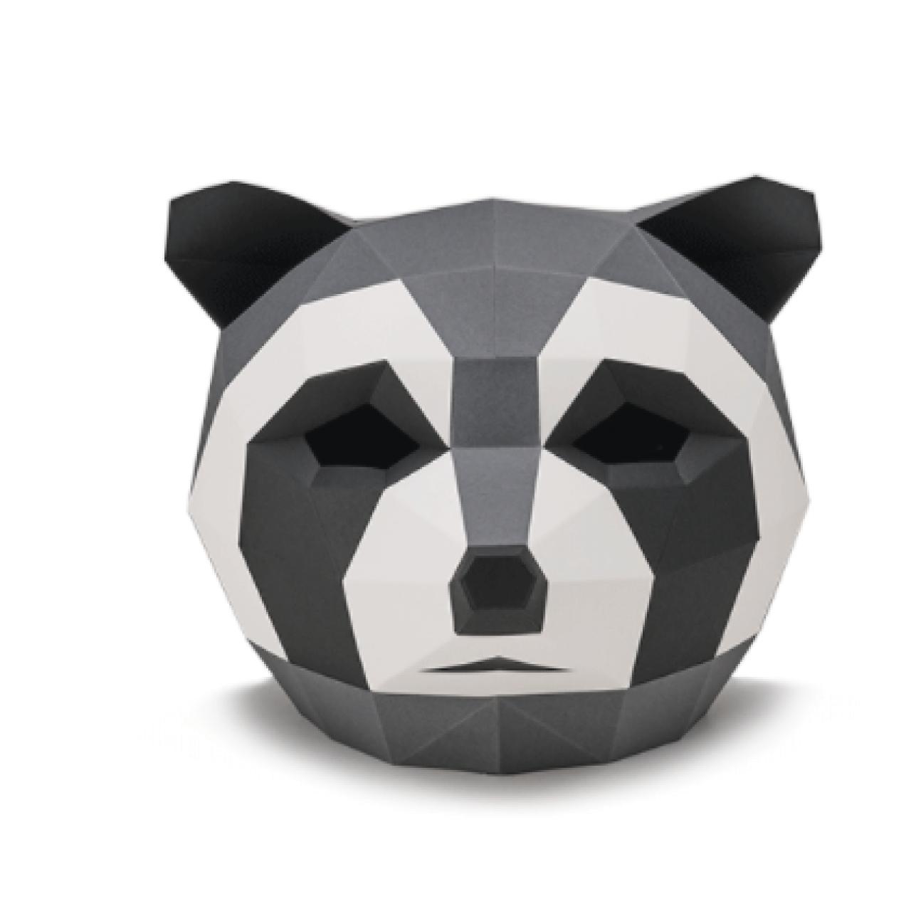 "3Д маска из бумаги ""Енот"""