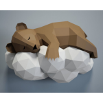"""3Д фигура из бумаги """"Спящий мишка"""""""