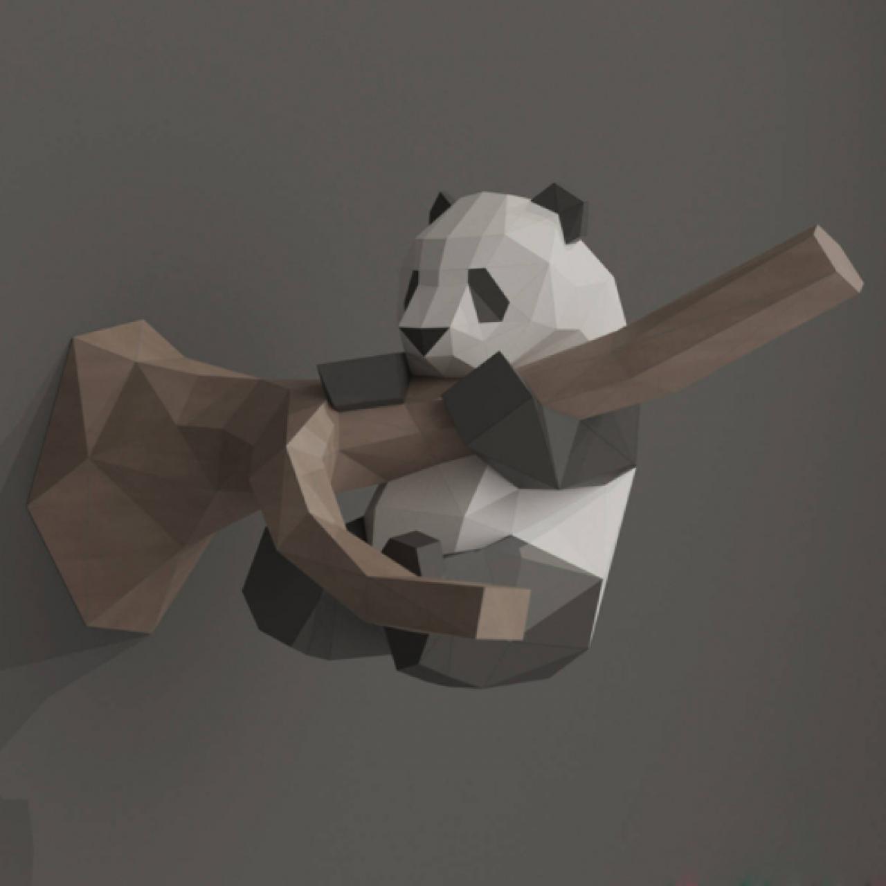 "3Д фигура из бумаги ""Панда"""