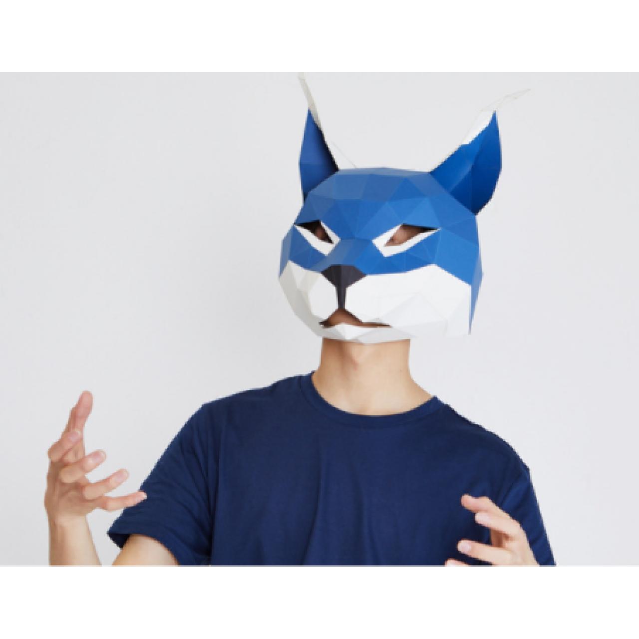 """3Д маска из бумаги """"Рысь"""""""