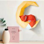 """3Д фигура из бумаги """"Лис и месяц"""""""