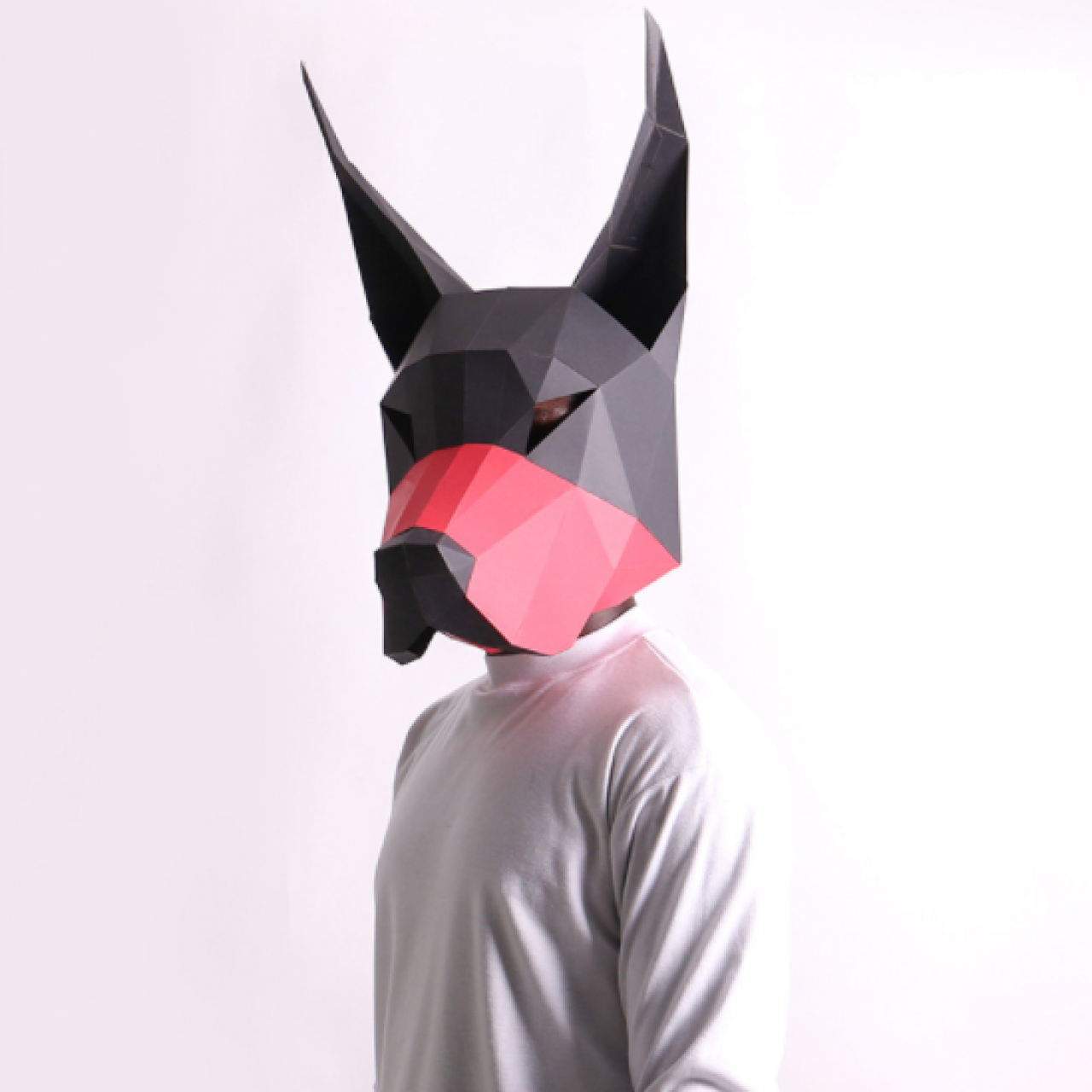 "3Д маска из бумаги ""Доберман"""