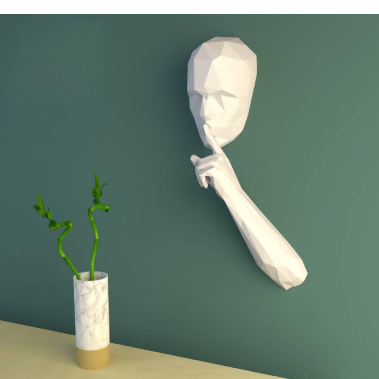 """3Д фигура из бумаги """"Тишина"""""""