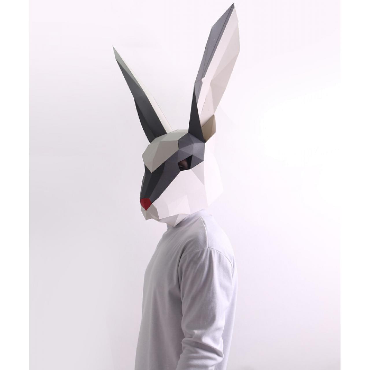 """3Д маска из бумаги """"Заяц"""""""