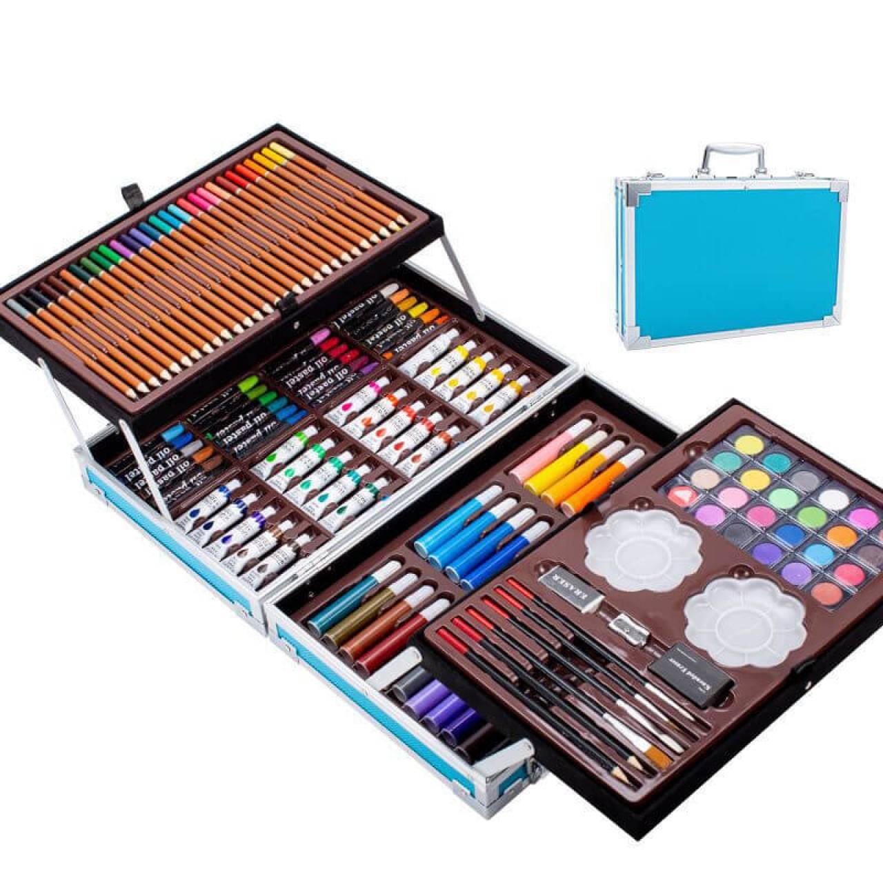 Набор для рисования в 2-х уровневом чемоданчике на 145 предметов